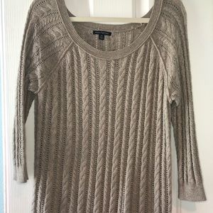American eagle light brown sweater
